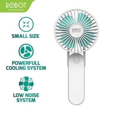 harga Robot Rt-Bf11 Foldable Usb Mini Fan & Powerbank 2000Mah - Putih Blibli.com