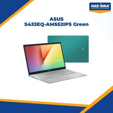"harga Asus S433EQ-AM551IPS Red/AM552IPS Green/AM553IPS White/AM554IPS Grey [I5-1135G7/8GB/512GB SSD/14""FHD/MX350 2GB/Windows 10+OHS/2 Year] Green Blibli.com"