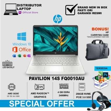 harga HP 14s-fq0010AU (AMD 3020e/4GB/256GB SSD/UMA/NoODD/BacklitKB+W10+OHS2019/2Yr/14