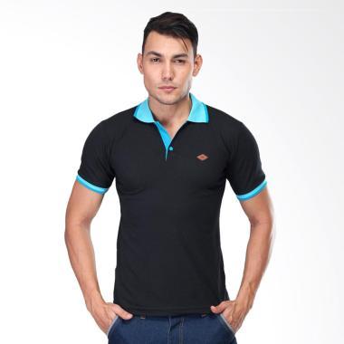 Sognoleather Basic Man Polo Shirt - Hitam [smd644]