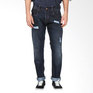Lois Men Fashion Straight Denim Cel ...  Pria - Dark Blue CFS 289