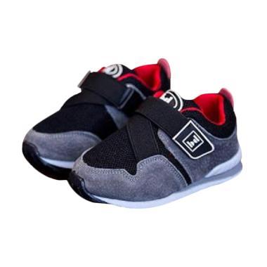Sport Sepatu Kets Anak Laki-Laki - Hitam Abu Merah