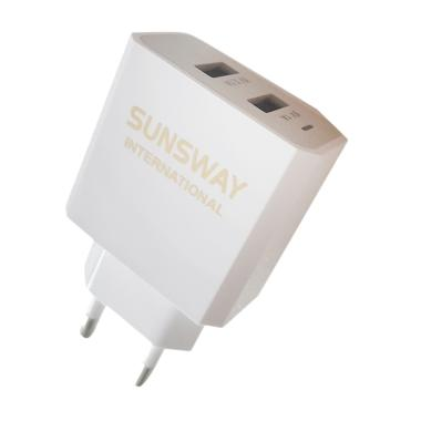 SUNSWAYS Dual USB Adapter Charger - White [2.1 A]