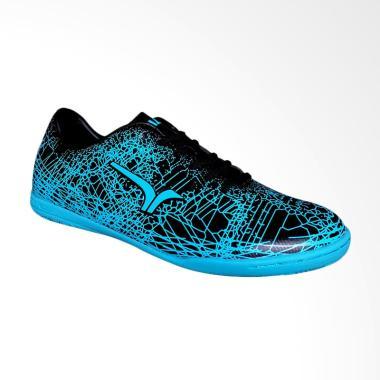 Calci Grunge JR Sepatu Futsal Anak - Black Cyan