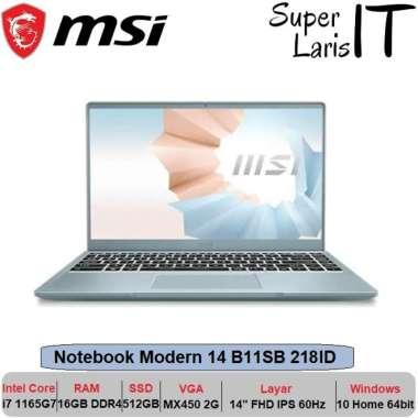 harga MSI Notebook Modern 14 B11SB 218ID i7 1165G7|16GB|512GB|MX450|14