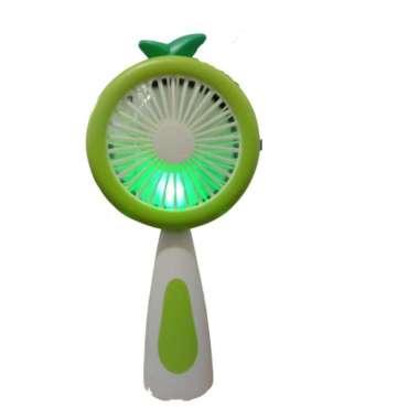 Kipas mini Led karakter buah terbaru / mini fan portable import Apel hijau