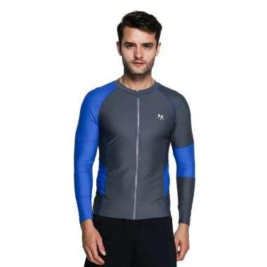 harga Lasona Men Rash Guard Swimwear Baju Renang Pria Tangan Panjang BM-C3211R-L4 XL DGrey LBlue Blibli.com