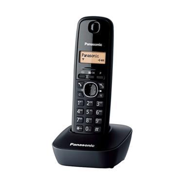 Telepon Wireless Cordless Panasonic ... hone Rumah Kantor - BLACK