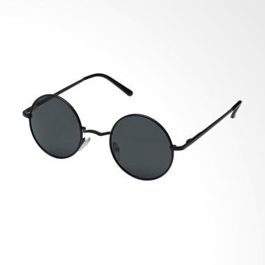 OEM Bulat Korea Kacamata - Hitam  Frame Hitam  RD121 81c3224b13