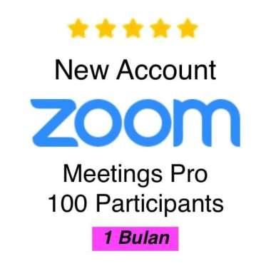 SEWA ZOOM MEETING MURAH 100 PRO LICENSED 1 BULAN