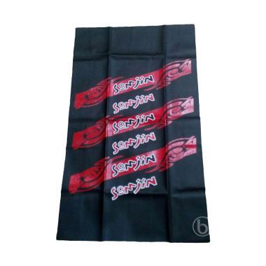 SJHOP Motif Somjin Leather Cover Sarung Jok Motor - Hitam Merah