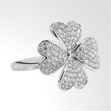 LINO P1606250045 Cincin Berlian Emas Putih 18K VVS