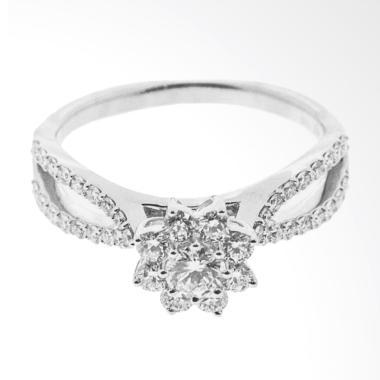 LINO P1607290001 Cincin Berlian Emas Putih 18K VVS