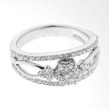 Lino P1606290018 Cincin Berlian Emas Putih 18K VVS