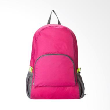Travel Bag Tas Ransel Lipat - Pink