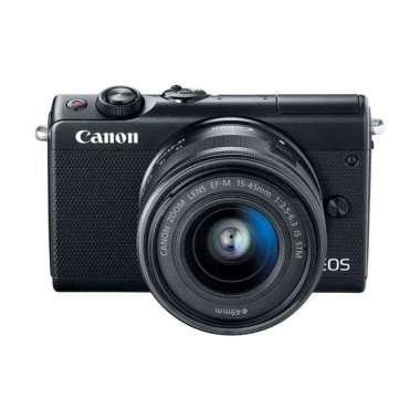 Canon EOS M100 Kit 15-45mm Mirrorless Camera Black Warna