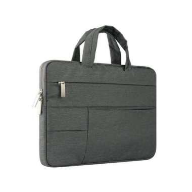 harga Unik Tas Laptop Softcase Sleeve Nylon Extra Pocket 14 inch - Dark Grey - 1415 Abu Tua Diskon Blibli.com