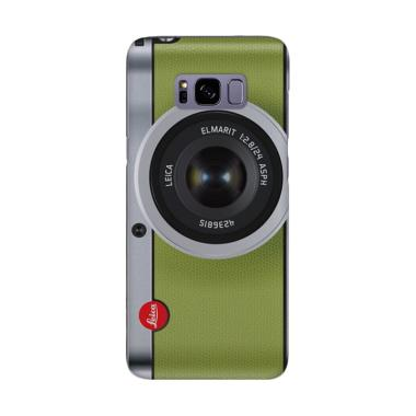 Indocustomcase Camera Leica Green Cover Casing for Samsung Galaxy S8
