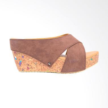 Dr.Kevin 27367 Wedges Women Sandals - Brown