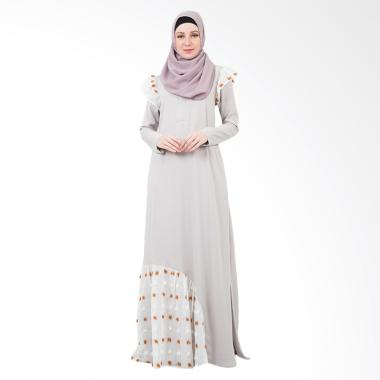 Valisha Edeline Cloud Dress Muslim - Grey White