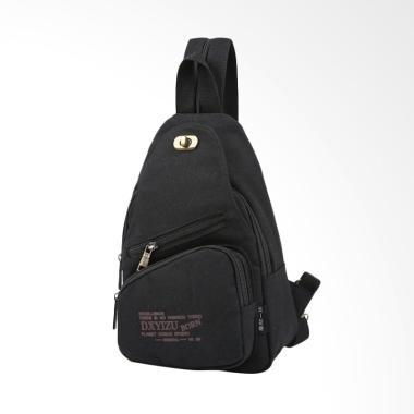 Martinversa Import Best Kanvas Sling Bag Pria - Black CH14