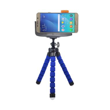 Mine Spider Flexible Tripod Mini wi ... lip for Smartphone - Blue