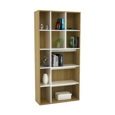 JYSK Bookcase Alaga Sanremo Rak Buku - White [80 x 30 x 185 cm]