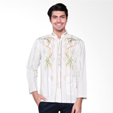 abrizam fashion medinna gold baju muslim pria putih med001