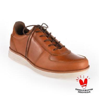 BLANKENHEIM Sneakers Kulit Sepatu Pria - Tan Brown