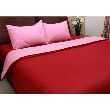 Chelsea Gold Polos Set Sprei dan Bed Cover - Red Ruby