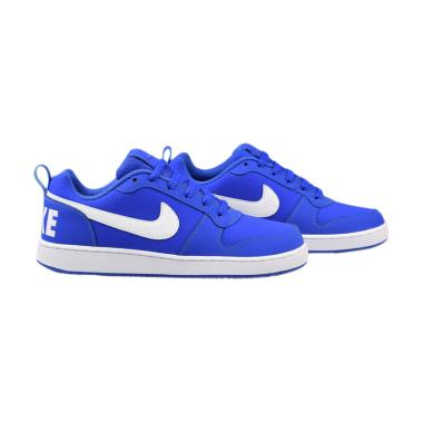 NIKE Court Borough Low Sepatu Pria - Blue [838937 400]