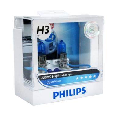 Philips Crystal Vision H3 Lampu Halogen [4300K]