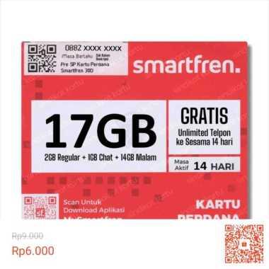harga Perdana Smartfren 17GB (14 hari) Blibli.com