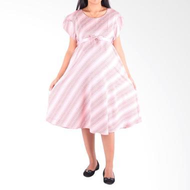 HMILL D1343 Dress Hamil dan Menyusui - Pink