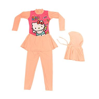 Nice Baby Motif Hello Kitty Baju Renang Anak TK Muslim - Peach