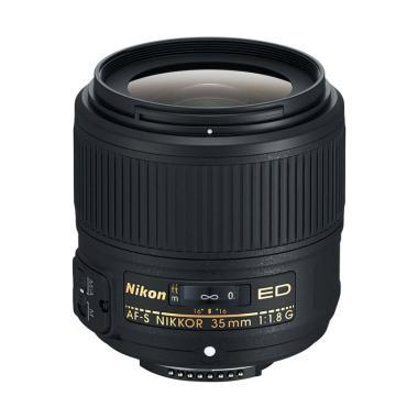 Nikon AF-S NIKKOR 35mm f / 1.8G ED Lensa Kamera - Hitam