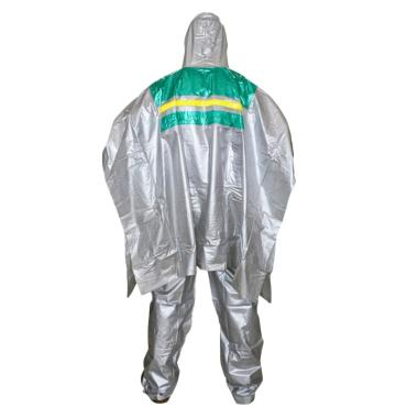 Indoplast Ponco Platinum Set Jas Hujan - Hijau Silver Metalic