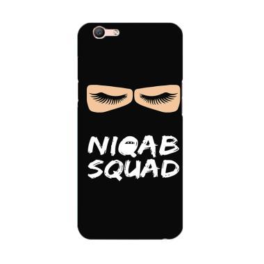 Premiumcaseid Hijab Jet Black Niqab Squad Hardcase Casing for Oppo F1s