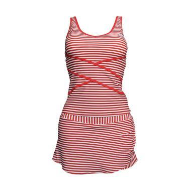 Lasona Setelan Renang Atasan Panjang Wanita - Red [SPR-3017J-HL01010]