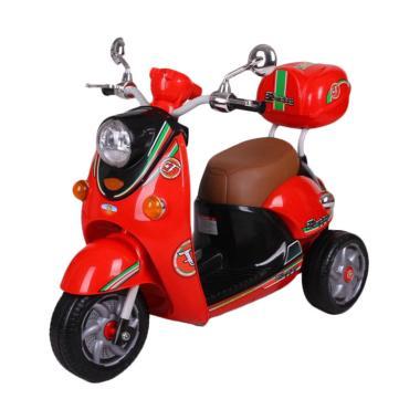 PMB M338 CGC Aki Scoopy Musik Lampu Bagasi Mainan Motor - Merah Hitam