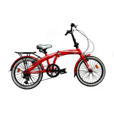 Phoenix 2026 Folding Bike - Red [20 Inch]