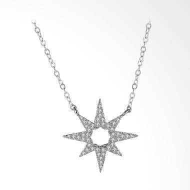 SOXY SVN121 Sterling Heart Flower 925 Necklace - Silver