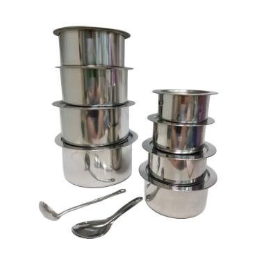 Damian's Kitchen Guppy Stock Pot Set Panci Stainless [18 pcs]