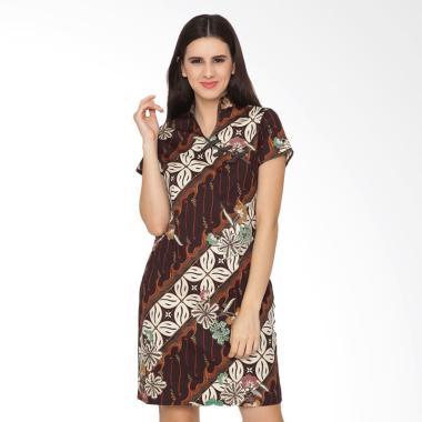 FBW Shanghai Cheongsam Batik Dress - Putih Cokelat