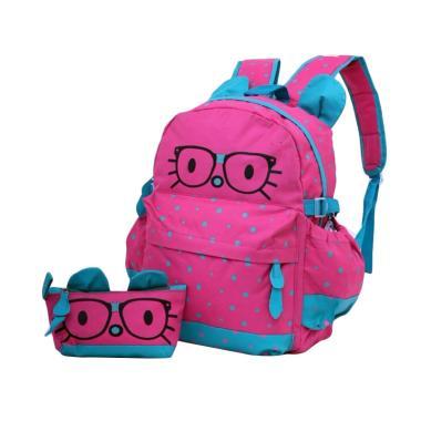 Garsel Bacpack Tas Sekolah Anak Perempuan - Pink