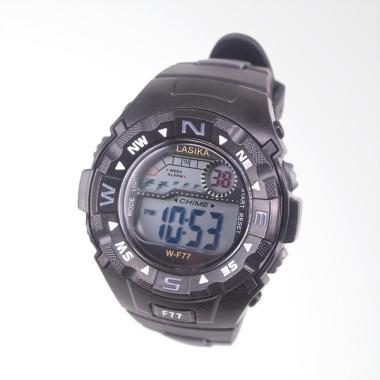 Lasika Sport Digital Jam Tangan Unisex - Black [W-F 77]