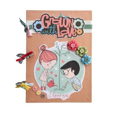 BukuUnik Gown With Love Note Book Buku Catatan - Pink