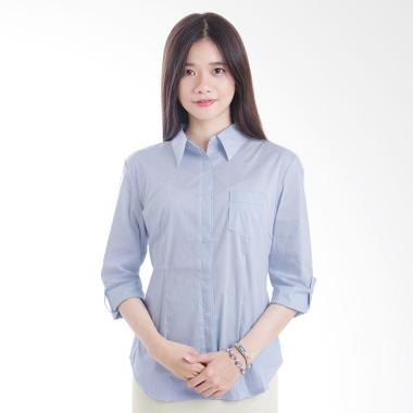 Adore Ladies Find Stripes Kemeja Wanita - Blue