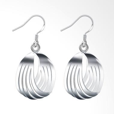 SOXY LKNSPCE229 New Exquisite Fashi ... rop Shape Silver Earrings