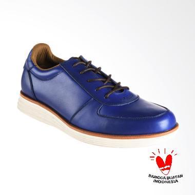 BLANKENHEIM Sneaker Kulit  Sepatu Pria - Blue [Original]